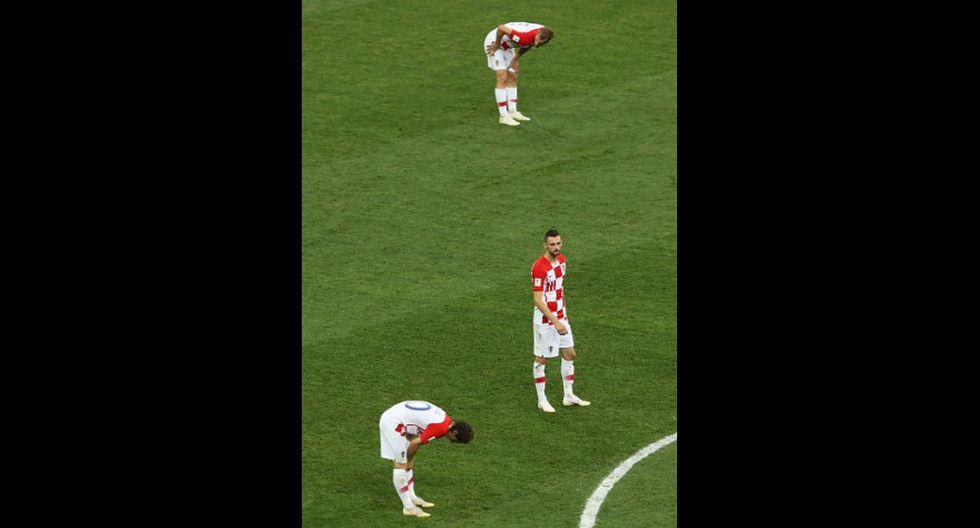 Rostros de decepción de Croacia tras caer en el Mundial (Foto: Getty Images).