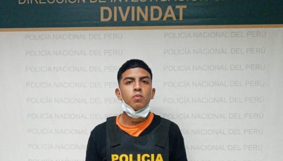 Daniel Muñoz fue detenido por agentes de la División de Investigación de Alta Tecnología. (PNP)