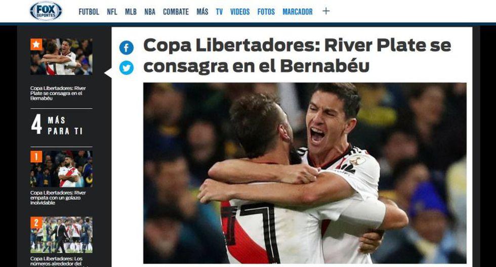 River Plate vs. Boca Juniors: Así informaron los medios del mundo la final de la Libertadores. (Captura: FOX)