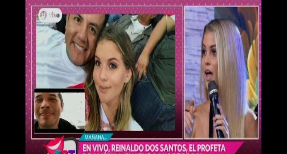 Brunella Horna le prohibió a Reinaldo Dos Santos hacer algún vaticinio sobre su relación con Richard Acuña.