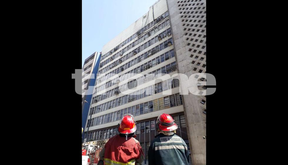 Incendio en la Fiscalía. Foto: Giancarlo Ávila