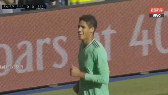 Primer gol de Varane en la temporada