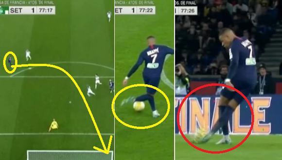 Mbappé asombró al mundo con remate de rabona y fuera del área el PSG vs. Saint-Étienne Copa de la Liga de Francia Video