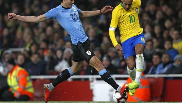Brasil y Uruguay se enfrentarán por la fecha 12 de las Eliminatorias. Foto: Adrian Dennis/AFP.