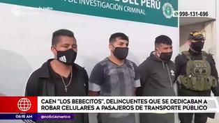 Policía capturan a banda dedicada a robar celulares en transporte público