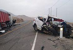 Arequipa: Dos muertos tras registrarse choque de un camión y un auto particular