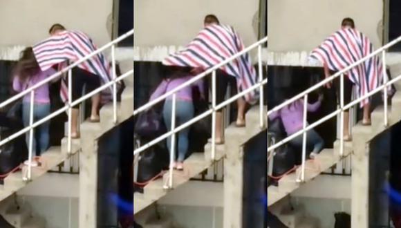 Captan a sujeto agrediendo a su pareja en Trujillo (Trome)