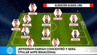 Jefferson Farfán debutará como titular en Alianza Lima frente a Binacional