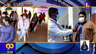 Tacna: Universitarios menores de edad recibieron la primera dosis contra la Covid-19