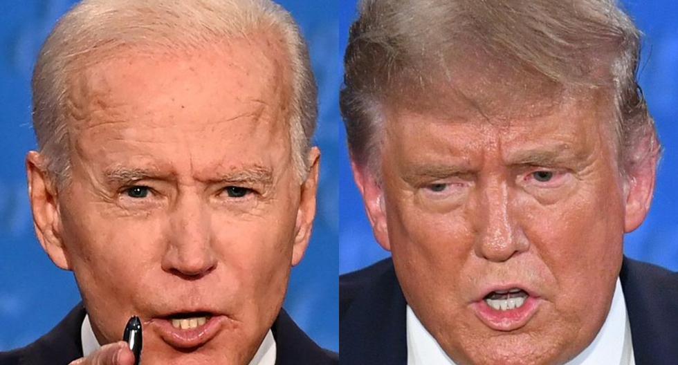Las ventajas que Biden muestra en las encuestas de Pew, son aún más pronunciadas entre los posibles votantes afroamericanos, con un 89 %, y los de origen asiático con un 75 %. (Fotos: JIM WATSON y SAUL LOEB / AFP).
