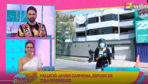Rodrigo le da el pésame a Tula Rodríguez por la pérdida de su esposo Javier Carmona