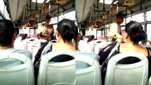 Policía se hace viral en Facebook tras subir a bus y exigirles a los pasajeros que vuelvan a sus casas | TROME