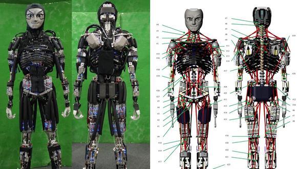 Kengoro, el robot que desarrolla un sistema similar a la sudoración humana. Conoce por qué.