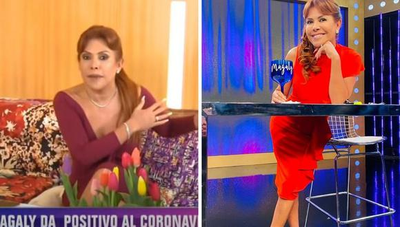 La presentadora de Tv, Magaly Medina anunció el viernes que dio positivo para coronavirus. al igual que ella, otros personajes peruanos contaron lo que les pasó. (Captura de pantalla / @magalymedinav).
