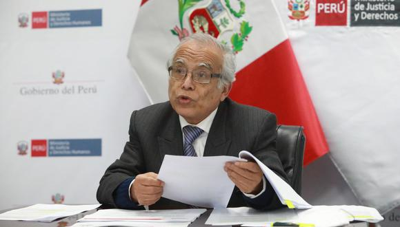 Ministro de Justicia y Derechos Humanos, Aníbal Torres, se pronunció sobre el fallecimiento del terrorista Abimael Guzmán a los 86 años. (Foto: Ministerio de Justicia)