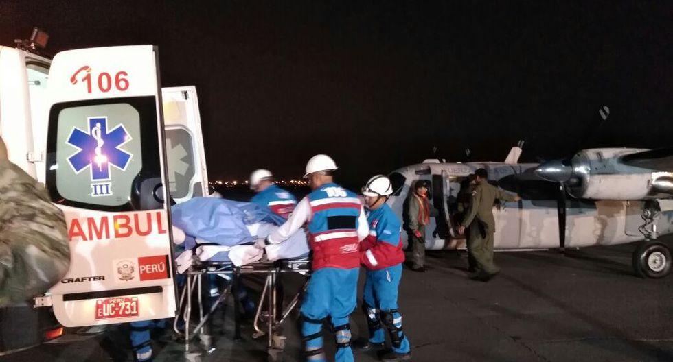 Mujer quemada en Cajamarca fue trasladada a Lima y será atendida en Hospital Almenara | VIDEO