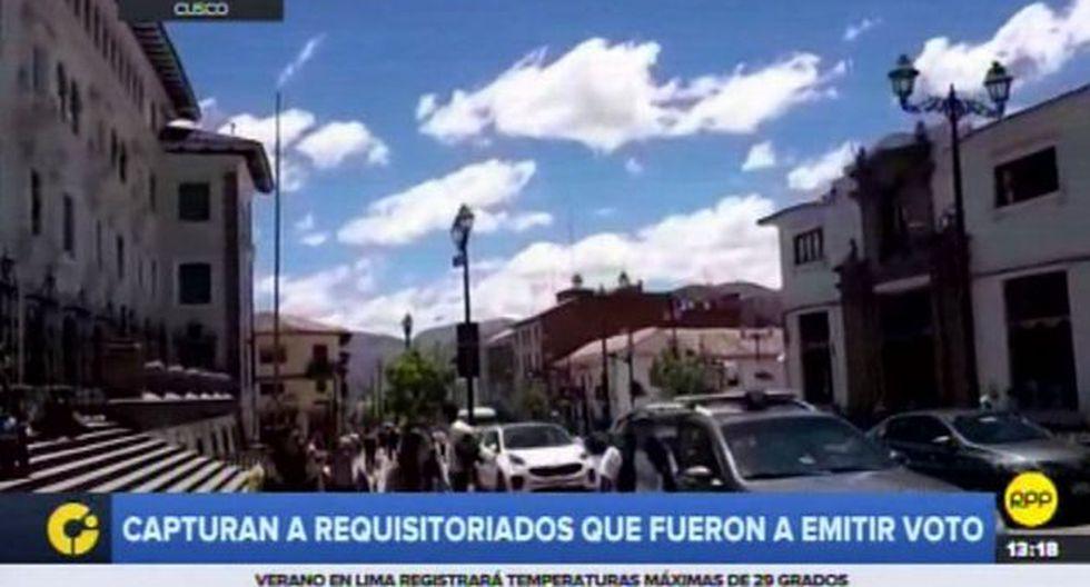 Al menos 20 personas que acudieron a sufragar eran solicitados por la justicia en Cusco. (Captura: RPP Noticias)