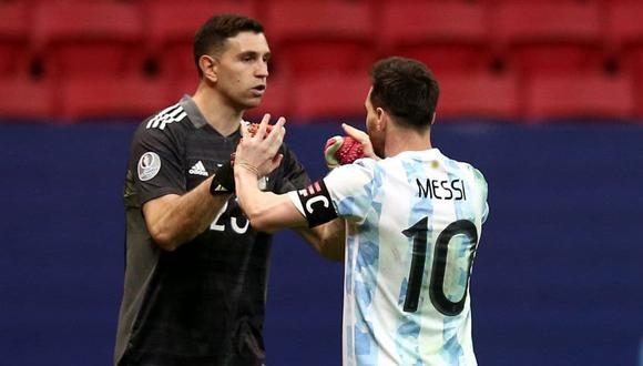 Emiliano logró forjar una fuerte amistad con Lionel Messi. (Foto: AFP)