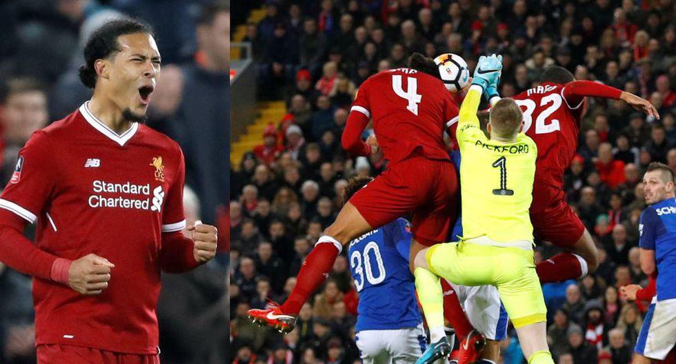 Van Dijk debutó en Liverpool: El defensor más caro del mundo anotó el tanto más extremo del planeta