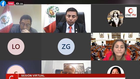 La Comisión de Ética aprobó diversas investigaciones en su sesión de este sábado 1 de agosto. (Foto: Captura Congreso TV)