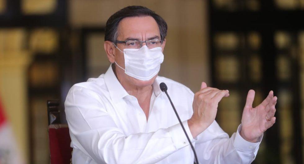 El presidente Martín Vizcarra en conferencia de prensa