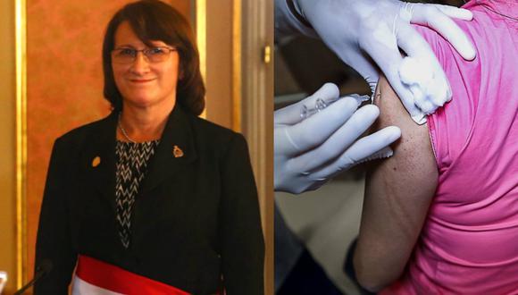 Pilar Mazzetti dice que el gobierno quiere vacunar a 24.5 millones de peruanos en el primer trimestre de 2021.