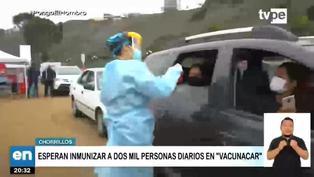 Esperan vacunar a 2 mil personas al día en el Vacunacar de Chorrillos