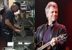 Jon Bon Jovi se pone a lavar platos en restaurante para los más pobres