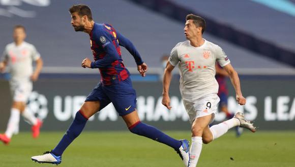 La última vez que Barcelona y Bayern Múnich chocaron, fue goleada 8-2 para los alemanes. Foto: AFP.