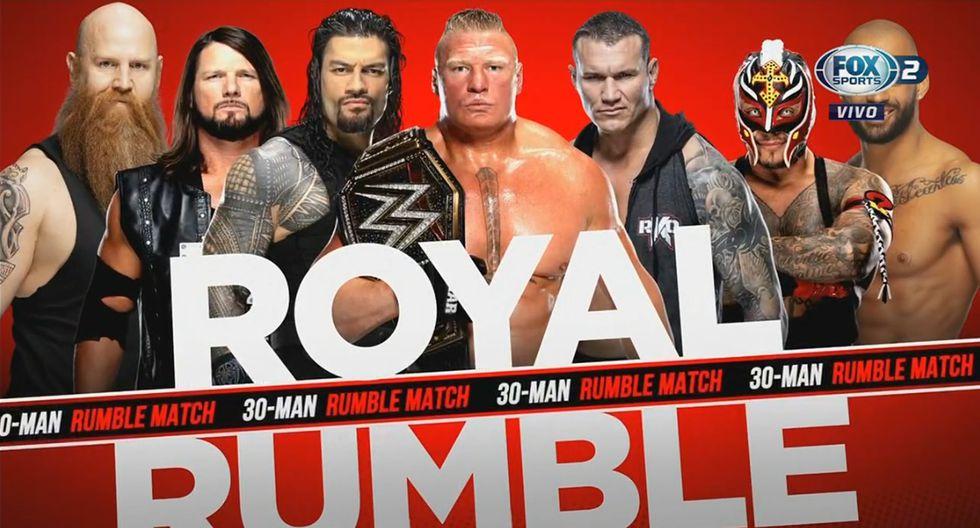 Brock Lesnar participará en el batalla real con la ubicación número 1. (WWE)