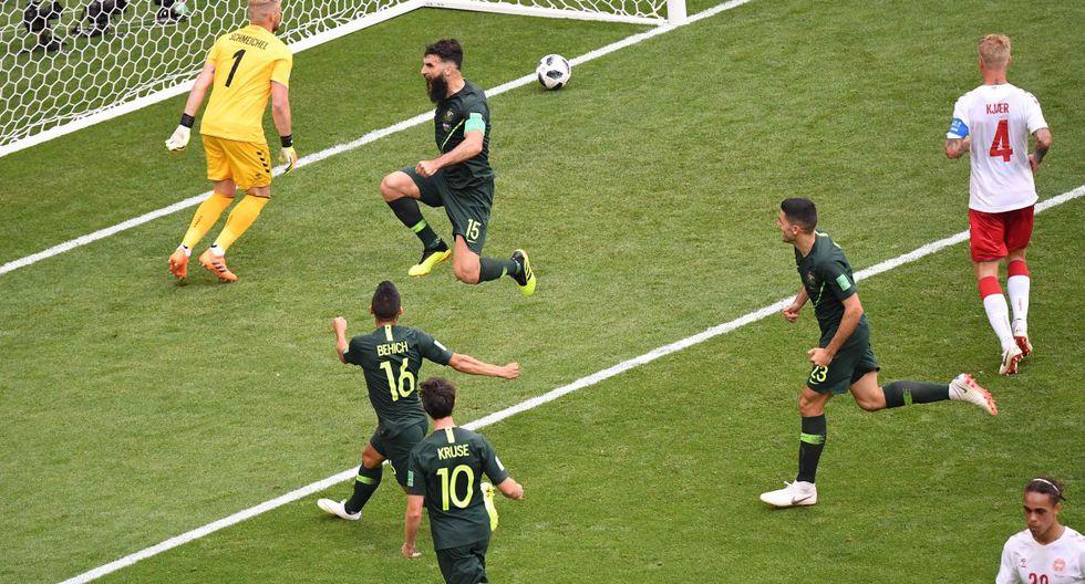 Gol de Jedinak a Dinamarca por el Grupo C del Mundial Rusia 2018