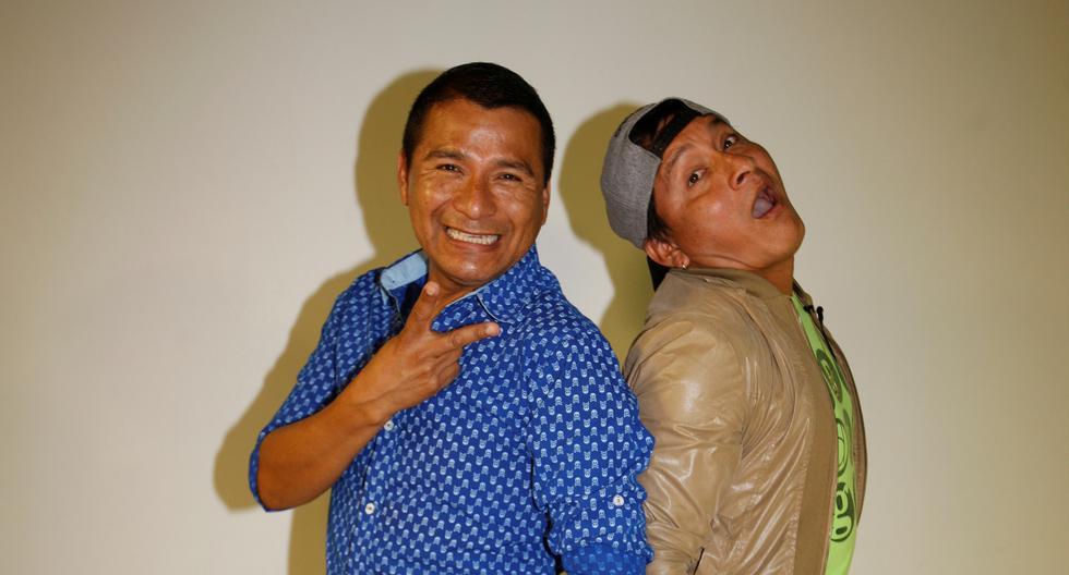 Luis Campos Aliaga ('Jhonny Carpincho', izq.) y Miguel Ángel Campos Aliaga ('Bibi Wantan', der.). Los dos hermanos comediantes continuaron su carrera después del fin de su estadía en la televisión. (GEC)