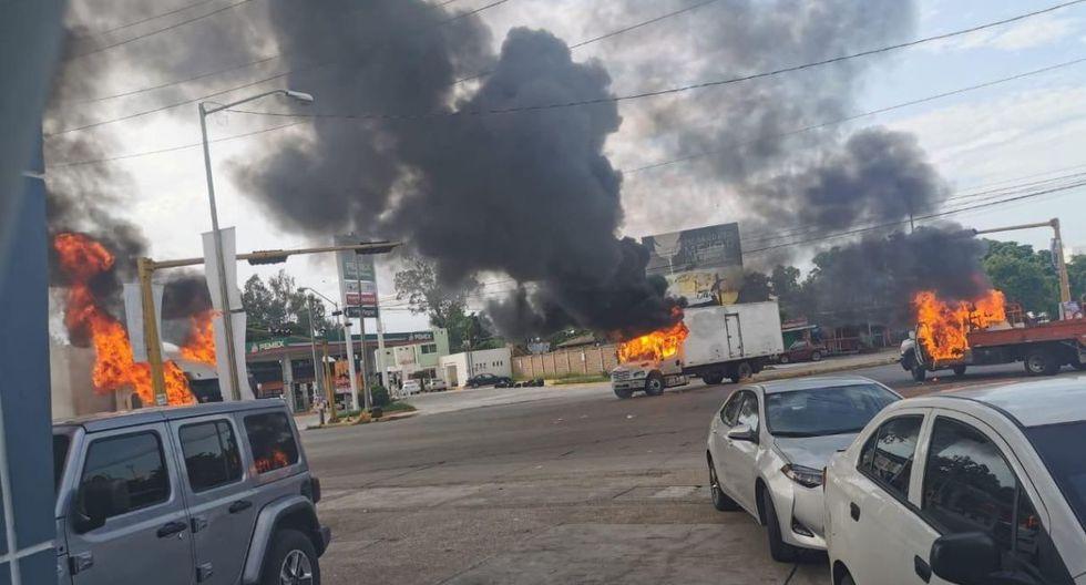 """Así lucían las calles de Culiacán, tras la captura del hijo de """"El Chapo"""". (Foto: Notimex)"""