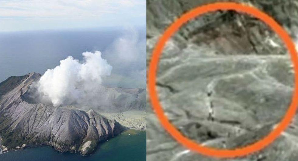 Cámara comprobó que había gente en el cráter. (Redes sociales)
