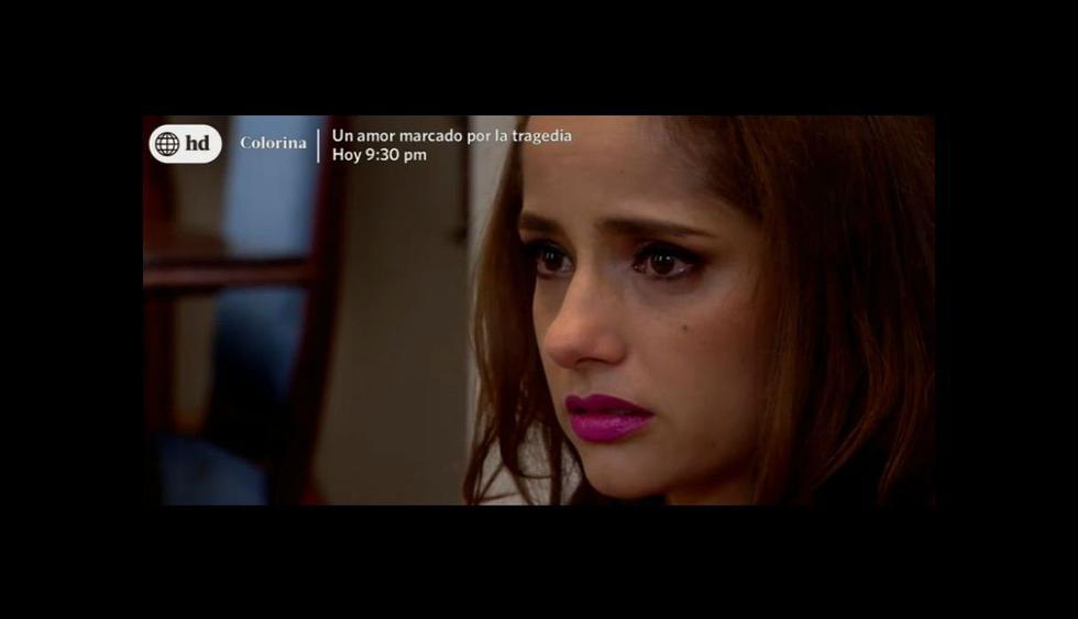 Anita quedó triste tras conversar con Malena. (América TV)