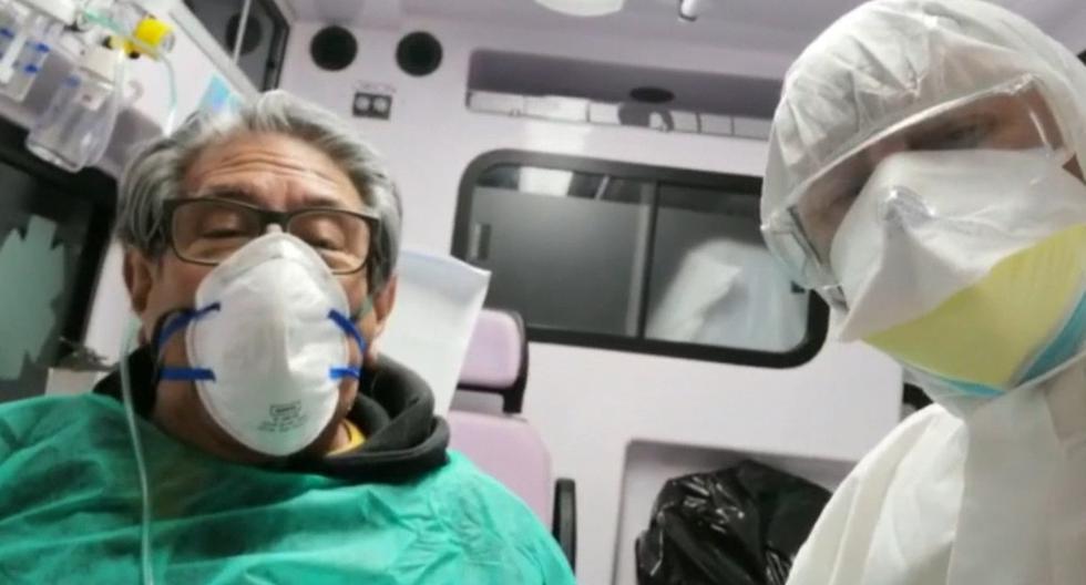 """El """"doctor Manuel"""", como lo llamaban los trabajadores de las dos ONG de ambulancias voluntarias que presidía, Fratres Mutinae y La Sorgente, atendía también en la clínica Villa Pineta, en la localidad de Pavullo, en cuidados subintensivos. Imagen del traslado a un hospital. (Captura de video/EFE)."""