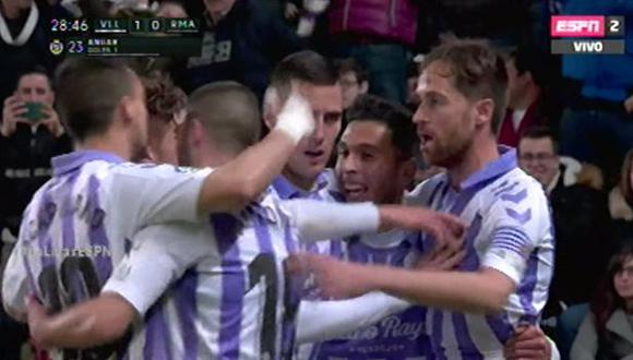Real Madrid vs Real Valladolid: Gol de Anuar Tuhami (Video: ESPN 2)