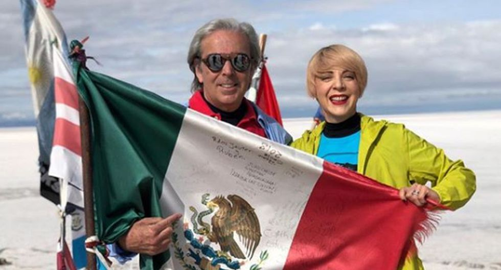 Edith Gonzalez y su esposo, Lorenzo Lazo. Foto: Instagram