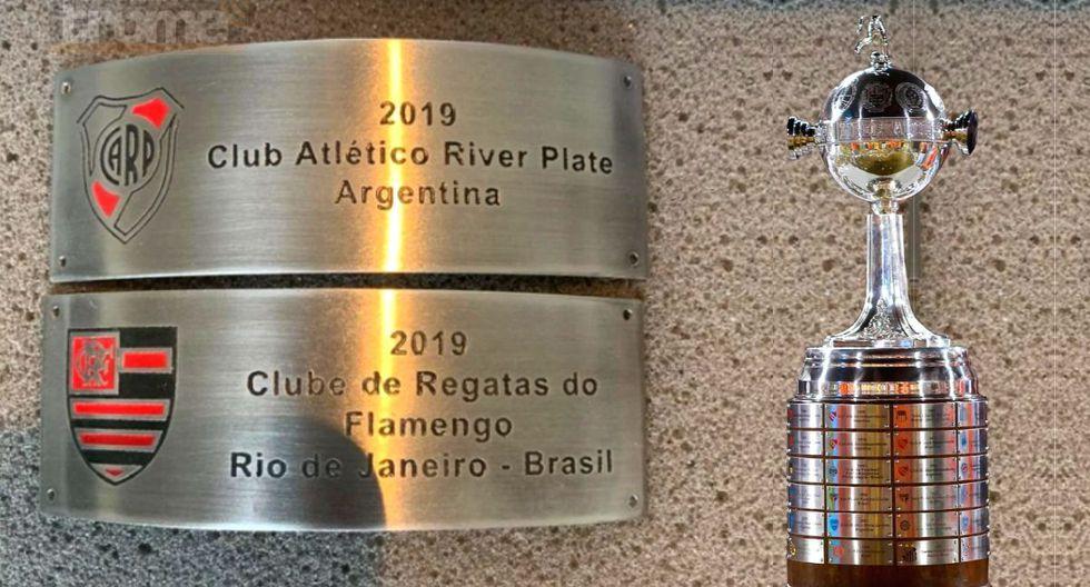 Quedaron listas las placas para el ganador de la Copa Libertadores