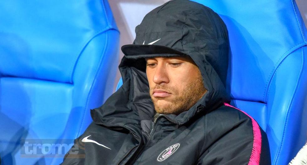 Neymar se queda sentadito mientras  sus compañeros de PSG juega amistoso ante Inter
