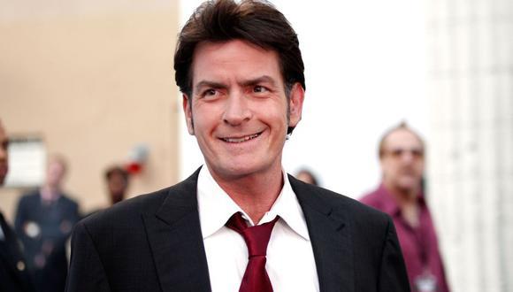 El popular actor y víctima del VIH Charlie Sheen.