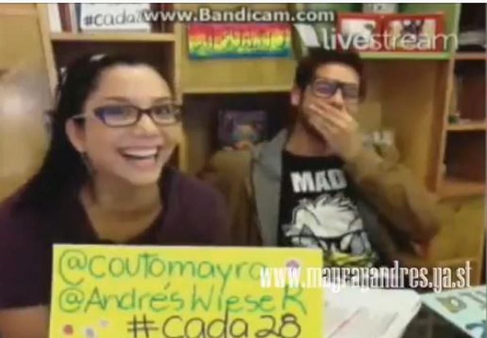 Mayra Couto y Andrés Wiese en divertido video