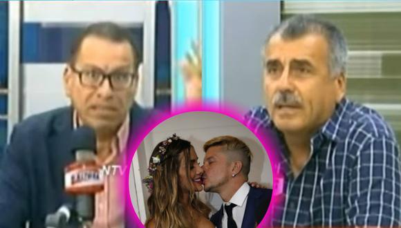 Mario Hart y Korina Rivadeneira: Philip Butters y Nicolás Lúcar en tremendo debate sobre la polémica boda