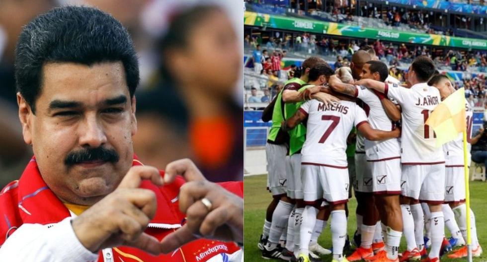 Nicolás Maduro festeja pase de Venezuela a cuartos de final