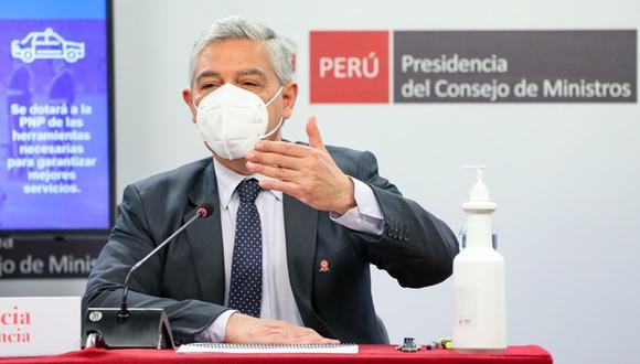 Ministro del Interior, José Elice, dio un balance de su gestión. Foto: Mininter