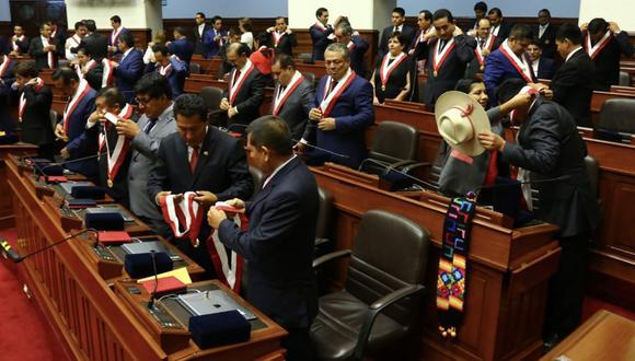 La juramentación del nuevo Congreso se realizó a puertas cerradas para evitar contagios (Foto: Andina)