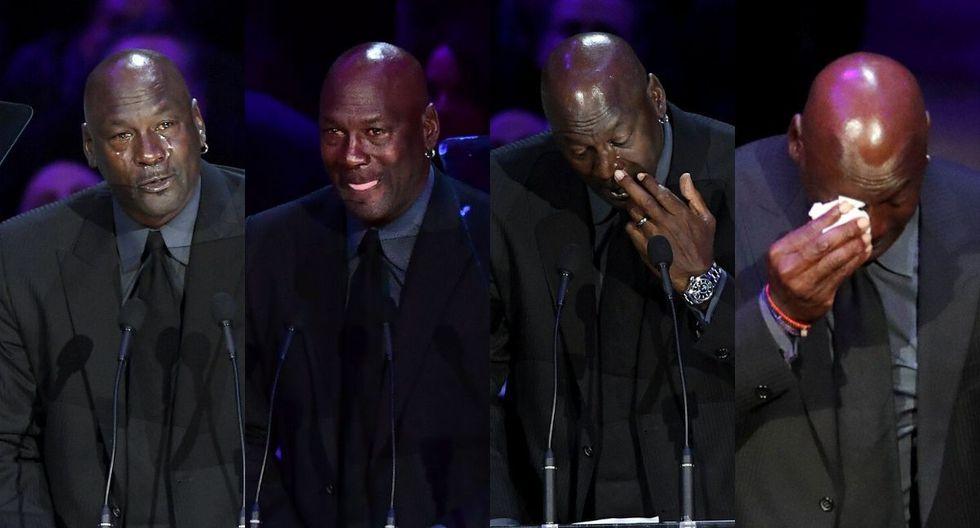 Lágrimas de Michael Jordan al recodar a Kobe Bryant. (Agencias)