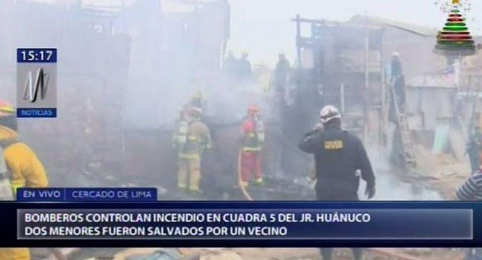 Incendio en el Centro de Lima