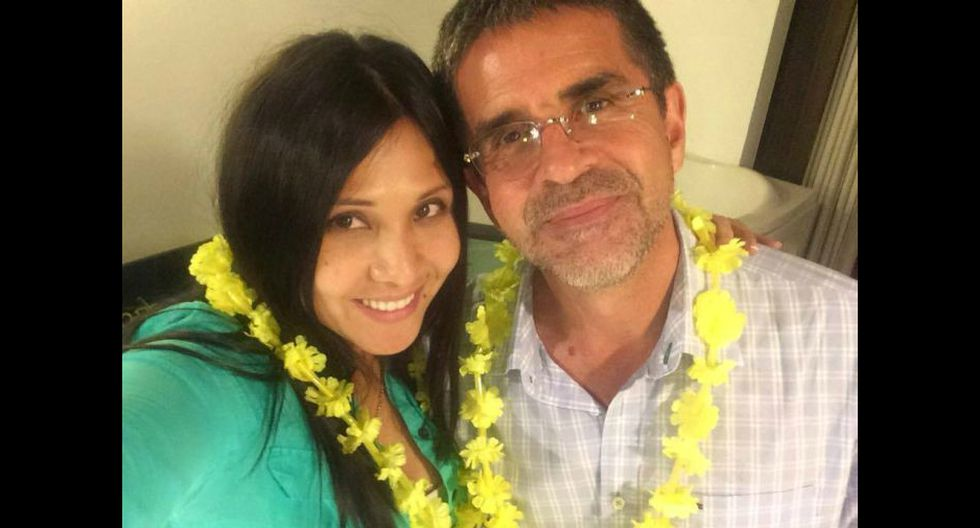 Tula Rodríguez y Javier Carmona celebrando el Año Nuevo (Cuenta de Facebook de Tula Rodríguez)
