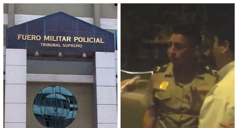 Suboficial de tercera de la Policía Nacional del Perú (PNP), Yordan Torres Rojas, fue captado agrediendo a su pareja el pasado 20 de febrero en Santa Anita. (Foto composición)